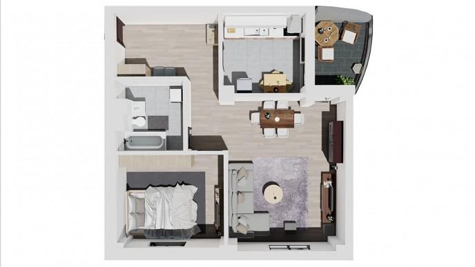 Apartament 2 CAMERE tip B - Landmark Tower